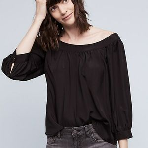 Anthropologie Maeve Yanna off-the-shoulder top.